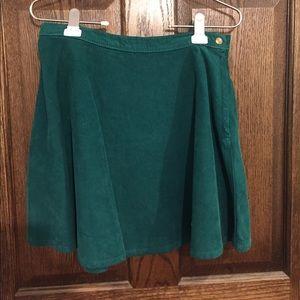 American Apparel Green Corduroy Skirt